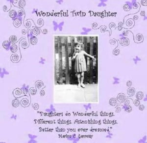 Twin Daughter Card (Wonderful) - £2.80 (save £0.15)