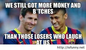 Funny Messi vs Neymar after world cup comics