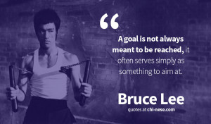 goal is not always meant to be reached, it often serves simply as ...