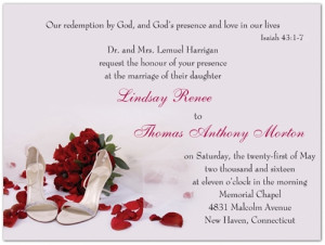 ... one of my favorite Christian wedding invitations!s! A Bible Verse