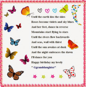 Granddaughter Poems for Birthday Wishes