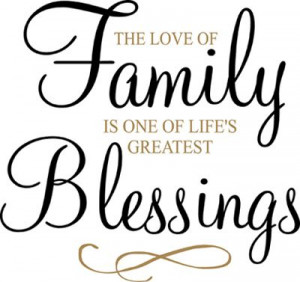 family poems and quotes | Family Blessings | Wall Decals - Trading ...