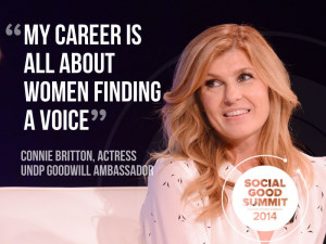 Connie Britton, Actress and UNDP Goodwill Ambassador