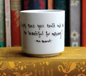 diy: literary quote mugs
