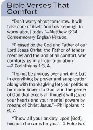 Bible verses that comfort