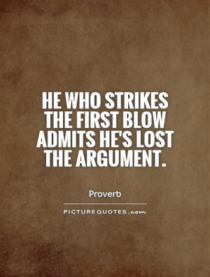 Argument Quotes and Sayings