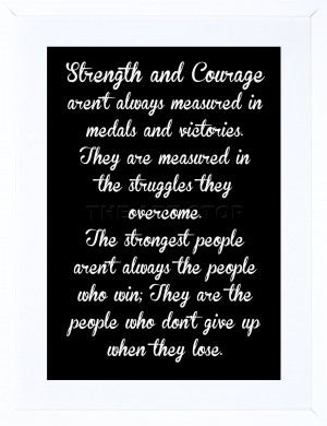 ... -AND-COURAGE-QUOTE-TYPOGRAPHY-WHITE-ON-BLACK-ART-PRINT-FRAME-F12X1134