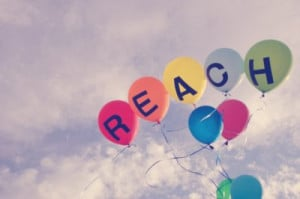 balloons, inspiring, quotes, reach, sky, statement, words