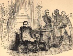 Under pressure from his marshals, Napoleon Bonaparte abdicates