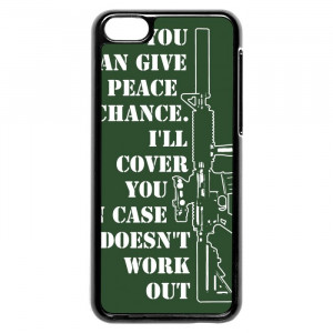 Funny Gun Rights Quotes iPhone 5c Case