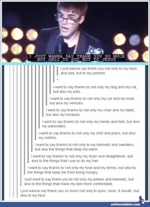 Funny Justin Bieber Quote...