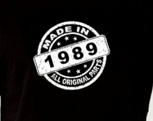 Made In 1989 Vintage 25th Birthday Gift Present T Shirt T-Shirt Tshirt ...