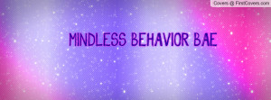 MINDLESS BEHAVIOR BAE Profile Facebook Covers