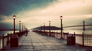 Full View and Download Pier Vintage Wallpaper with resolution of ...