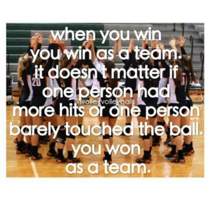 ... is so true!!! Remember work as a team play as a team win as a team