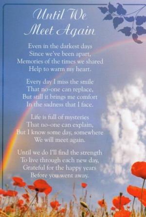 Until We Meet Again Graveside bereavement memorial