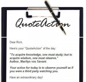 Via Rick I. The LinkedIn Guy and QuoteActions