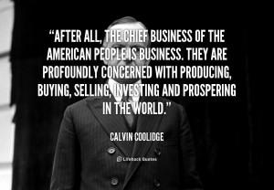 Calvin Coolidge Famous Quotes