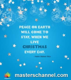 Peace on earth... #Quote #Inspiration #Christmas #Motivation