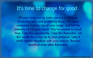 it s time to change