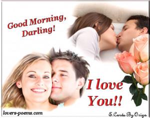 Good morning, darling!