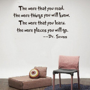 The More That You Read Inspirational Quotes Wall Decal Home Letter ...