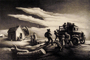 Departure of the Joads, from The Grapes of Wrath , Thomas Hart Benton ...