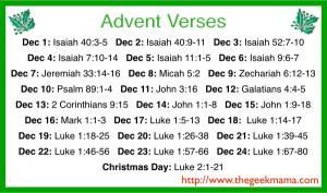 Advent Verses