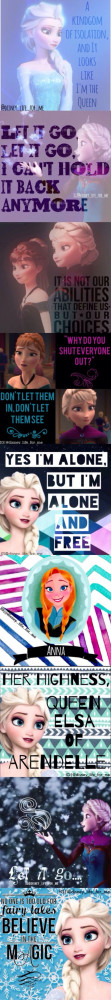 Disney Frozen Movie Quotes Disney's frozen anna and elsa,