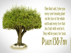 Psalm 138:7 – Tree Of Life Papel de Parede Imagem