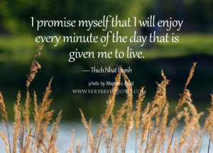 enjoy every minute of the day quotes, Thich Nhat Hanh Quotes