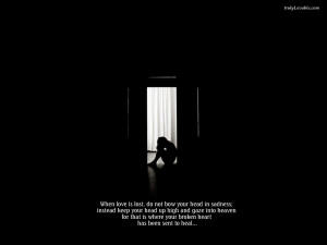 Meaningful wallpaper of Lost love with quotes