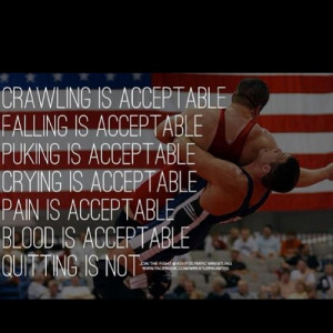 Quitting is not acceptable. #SaveOlympicWrestling