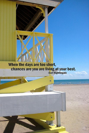 Beach Day Quote Photograph