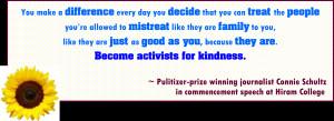 quote from Connie Schultz