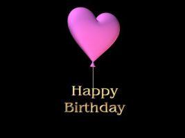 Happy Birthday Heart Balloons