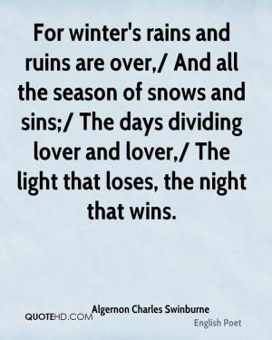 Algernon Charles Swinburne Quotes