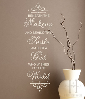 Teen Room Decor , Marilyn Monroe quote Wall Decal words , Beneath the ...