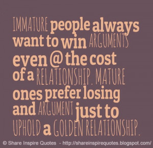 Immature People Quotes And Sayings