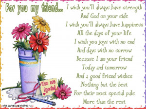 For you my friend...