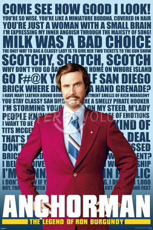 Anchorman - Quotes Movie Poster - 24x36
