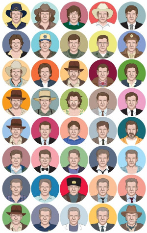 Can you recognize the roles played by Harrison Ford in this image ...