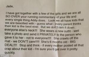 ... regarding her extensive social media updates about her daughter