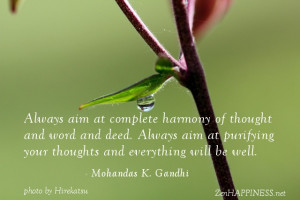 Always aim at complete harmony quotes