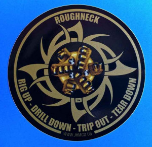 This sticker features a beautiful 6 wing PDC drill bit printed in 3D ...