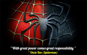 Inspirational Quotes From Spider Man