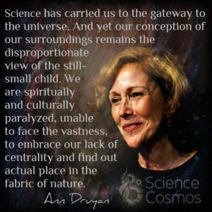 Ann Druyan - Writer of Cosmos. Designer the gold Voyager records ...