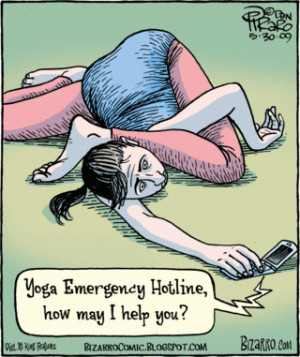 Let me clarify this statement: Yoga poses, done incorrectly , can hurt ...