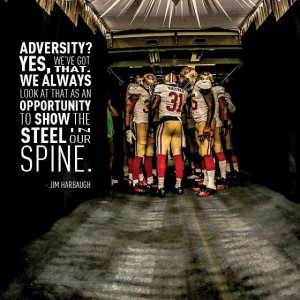 Jim Harbaugh quote #49ers