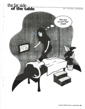 Massage cartoon: who says massage can't